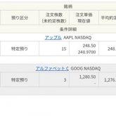アップル(AAPL)25株、アルファベット(GOOG)5株買い増し!